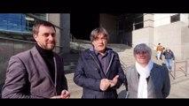 Puigdemont, Comín i Ponsatí agraeixen el suport
