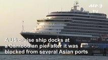 US cruise ship blocked over virus fears docks in Cambodia