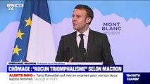 """Pour Emmanuel Macron, la baisse du chômage est """"une très bonne nouvelle"""" mais """"la bataille n'est pas gagnée"""""""