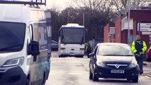 Bus leaves Arrowe Park Hospital after coronavirus quarantine