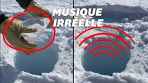 Le son de ce caillou tombant dans la glace est irréel (et pourtant authentique)