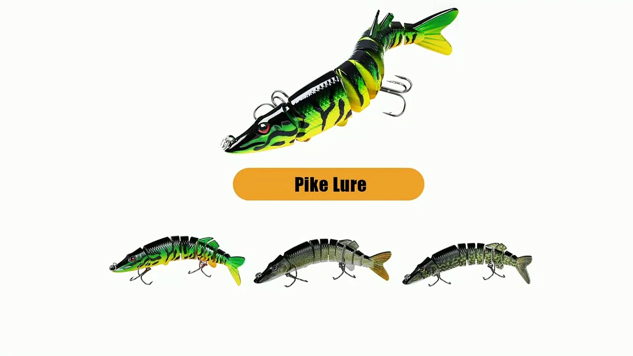 Fishing Lure Sinking Wobblers Crankbaits Pike Jointed Swimbait Tackle Bass Trout
