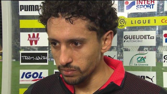 La réaction de Marquinhos après Amiens / PSG - Ligue 1 Conforama