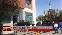 Arrestan a dos presuntos secuestradores, uno de ellos resultó ser policía