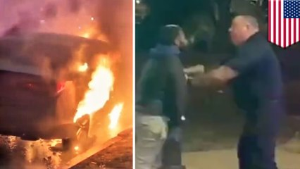 車両火災に駆け付けた消防隊員 消火が遅いと所有者に殴られる - トモニュース