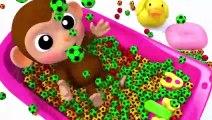 Learn Colors With Animal - Lernen Sie Farben Baby Affe Futball Bad Zeit Fingerlied Kinderlieder Für Kinder
