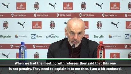 Pioli left confused over Juventus' handball penalty