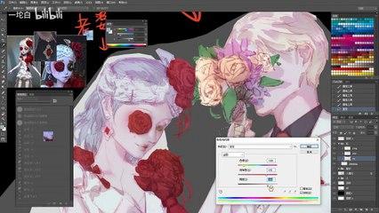 第五人格板绘:【一坨白】猩红新娘 调香× 我 致那片从心底生出的血色玫瑰