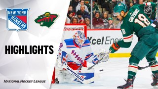 NHL Highlights   Rangers @ Wild 2/13/20