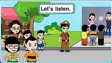 สื่อการเรียนการสอน We can see students at the school ป.2 ภาษาอังกฤษ