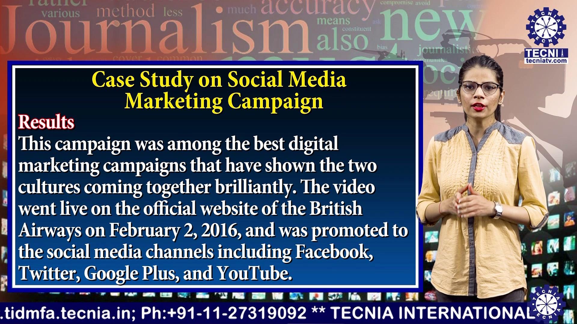 BAJMC || Ms. Mansi Chopra || CASE STUDY ON SOCIAL MEDIA MARKETING CAMPAIGN || TIAS || TECNIA TV