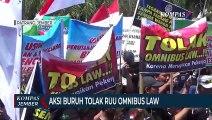 Aksi Buruh Tolak RUU Omnibus Law