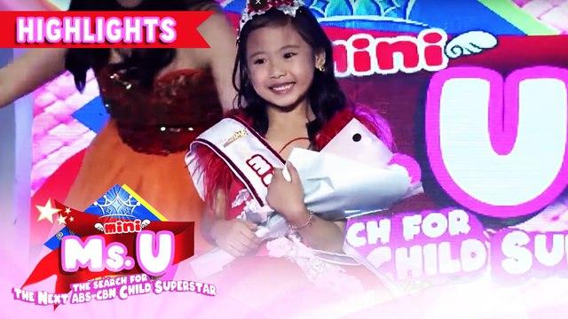 Yndra Fernandez wins as Mini Miss U of the day | It's Showtime Mini Miss U