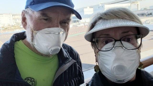 Valentine's Day in quarantine for couple celebrating 47th anniversary at sea