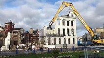 Claremont hotel comes crashing down