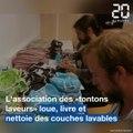 Toulouse: «Les tontons laveurs» nettoient et livrent les couches lavables