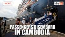 Cruise passengers shunned over coronavirus fears disembark in Cambodia
