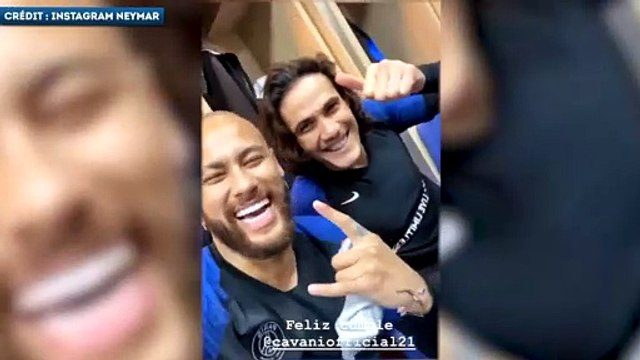 Neymar piège Di Maria et Cavani pour leurs anniversaires