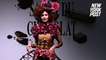 Mouth-watering chocolate couture hits the runway