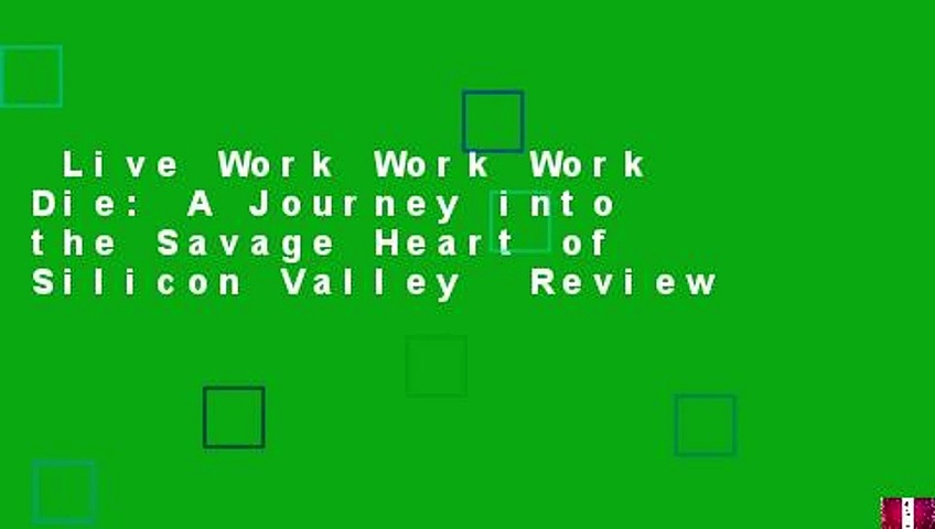 Live Work Work Work Die: A Journey into the Savage Heart of Silicon Valley  Review