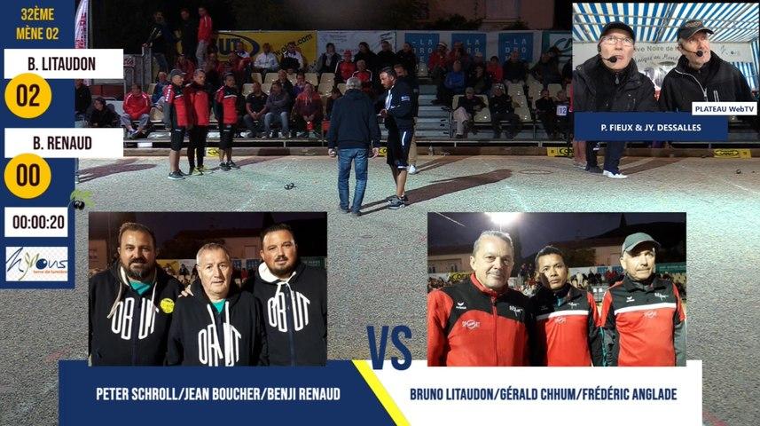 32ème B. RENAUD vs B. LITAUDON International de l'Olivier 2019 à Nyons