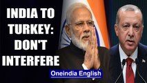 India to Turkish President on J&K: Don't interfere with internal matters|OneIndia News