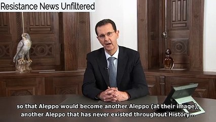 Assad after Aleppo's Liberation: Despite Erdogan's Loud Bark, All of Syria Will Be Liberated