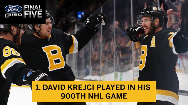 Ford Final Five: Bruins Roll Past Red Wings in Krejci's 900th NHL Game