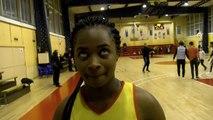 Monique Ilouga après la victoire du Martigues Sport Basket contre Dijon
