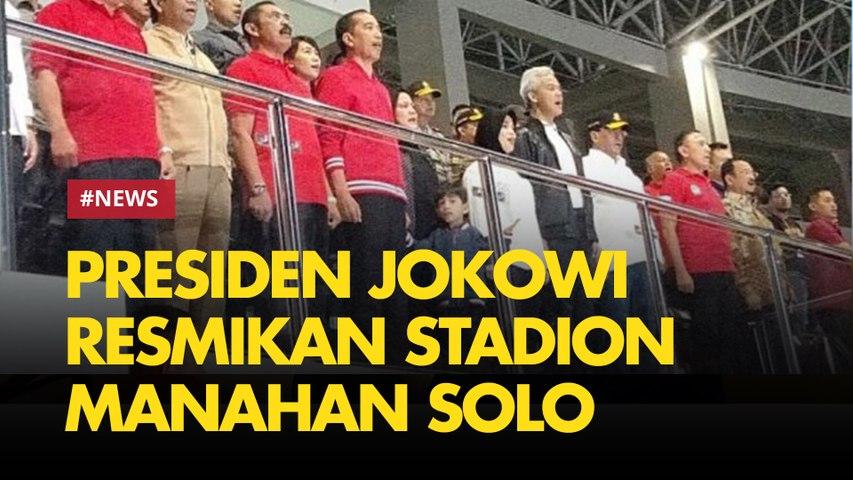 Malam Minggu, Presiden Jokowi Ajak Jan Ethes Resmikan Stadion Manahan Solo