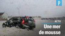 Les images impressionnantes de la tempête Dennis en Bretagne