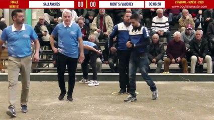 Finale Sallanches vs Mont-sous-Vaudrey : L'Hivernal Pétanque by « La Genevoise » 2020