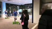 Lazio-Inter, l'arrivo all'Olimpico di Jessica Immobile