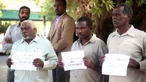 Sudanese families hold protest against China