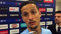 Lazio-Inter: Luiz Felipe in mixed zone