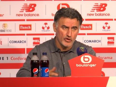 """25e j. - Galtier : """"Je suis déçu, car pendant 1h, on a fait un bon match"""""""