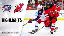 NHL Highlights | Blue Jackets @ Devils 2/16/20