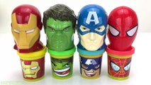 Learn Colors With Animal - Play Doh Marvel Avengers with Iron Man Hulk Captain America and Kitchen Creations Molds Surprise Toy