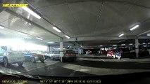 Marche arrière dans le poteau du parking souterrain !