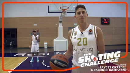 Shooting Challenge: Jaycee Carroll & Facundo Campazzo, Real Madrid