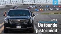 Donald Trump s'offre un spectaculaire tour d'honneur sur le circuit de Daytona
