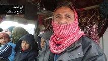 سوريون يهربون من مخيم للنازحين شمال محافظة إدلب