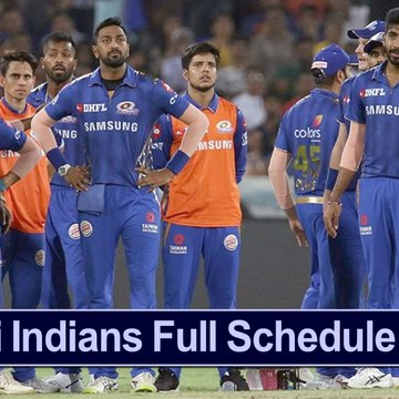 IPL 2020 : Mumbai Indians Full Schedule, Timings For Home And Away Games