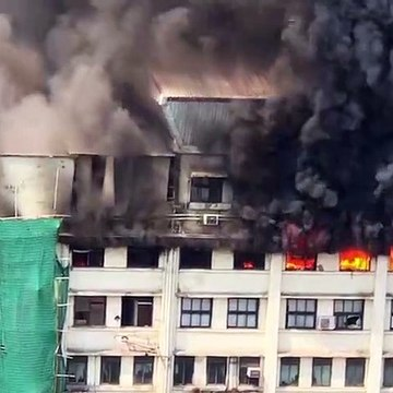 Government building in Mumbai engulfed by flames, several feared to be trapped inside