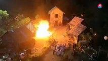 Des acteurs sont brûlés lors d'un tournage