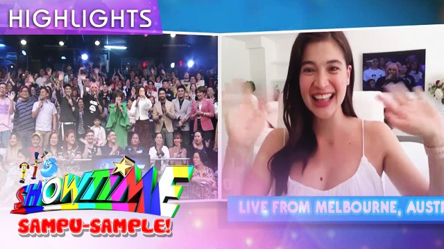 Anne Curtis greets the madlang people, live from Australia! | It's Showtime