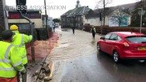 فيضانات واضطرابات بحركة النقل في المملكة المتحدة جراء العاصفة دينيس