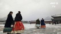 Corée du Sud: Séoul enregistre sa plus forte chute de neige en un jour cet hiver