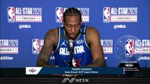 Kawhi Leonard Reflects On Winning First Kobe Bryant All-Star Game MVP Award