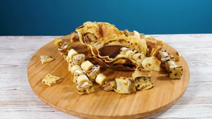 Fondue de crêpes au chocolat
